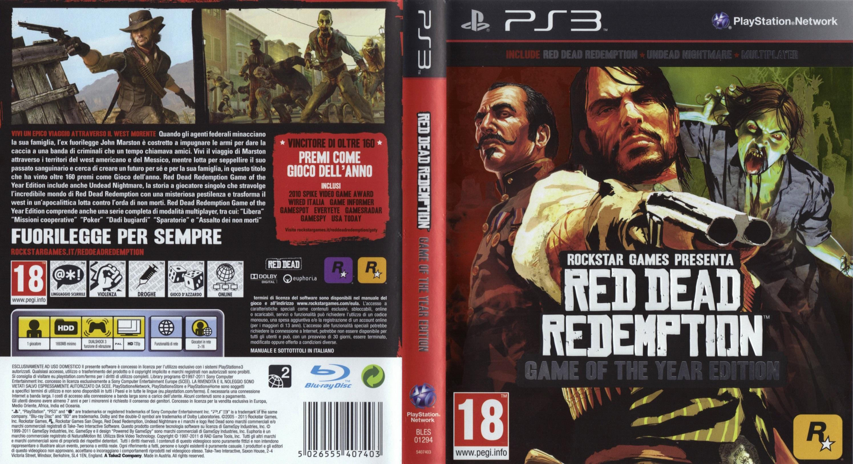 Red Dead Redemption GOTY Cover Ita - Cover Videogiochi