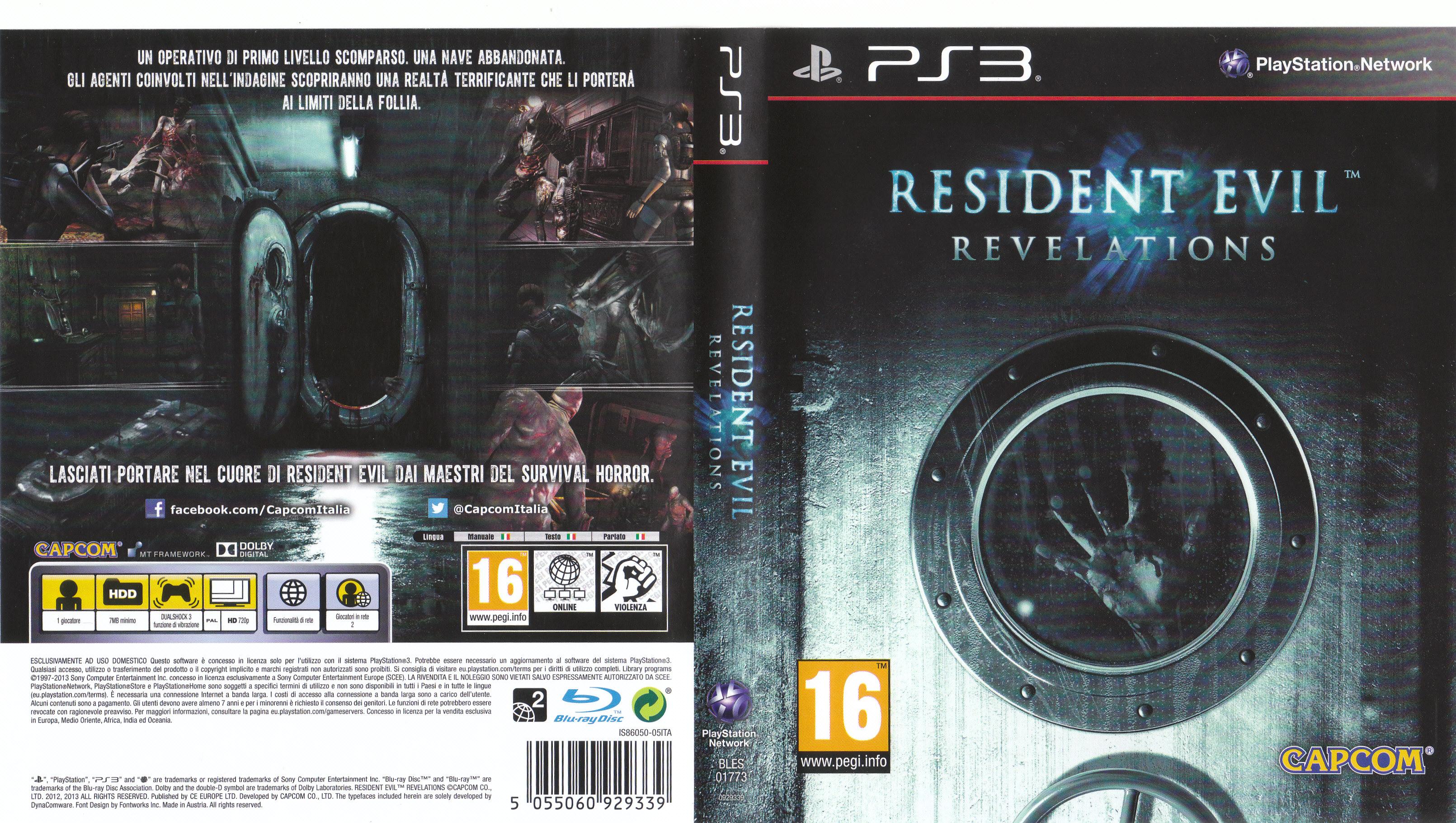 Resident Evil Revelations Cover Ita