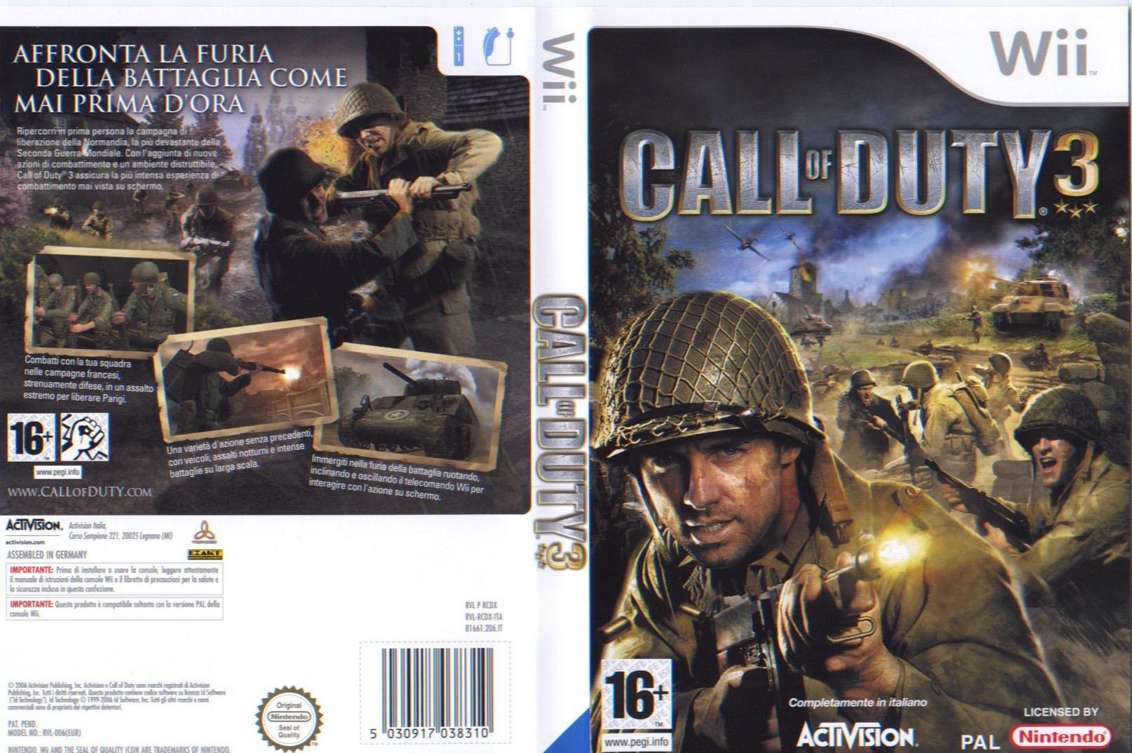 Call Of Duty 3 Cover Ita