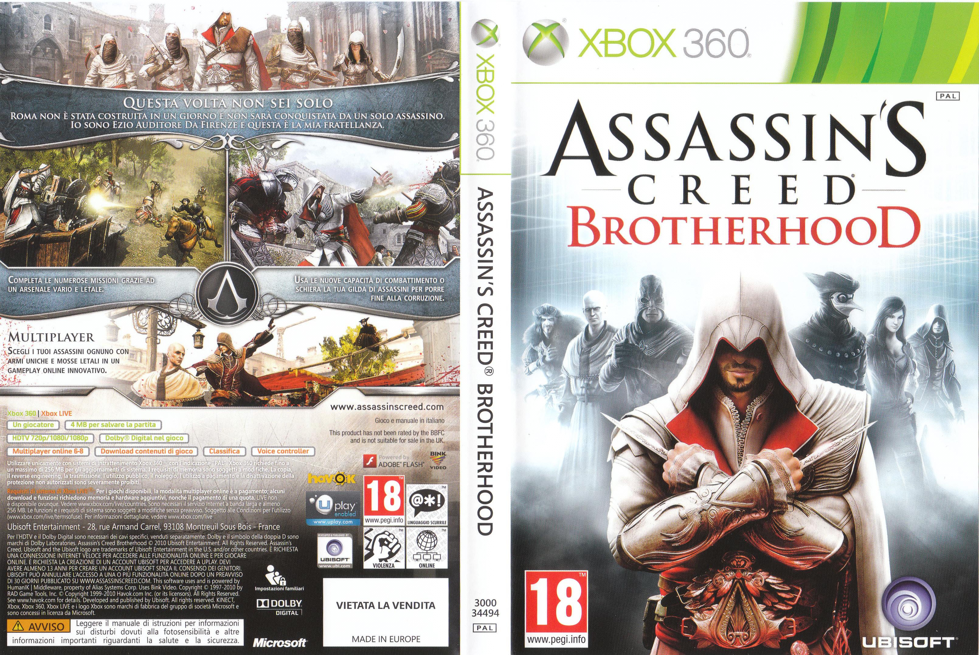 Assassin S Creed Brotherhood Cover Ita Cover Videogiochi