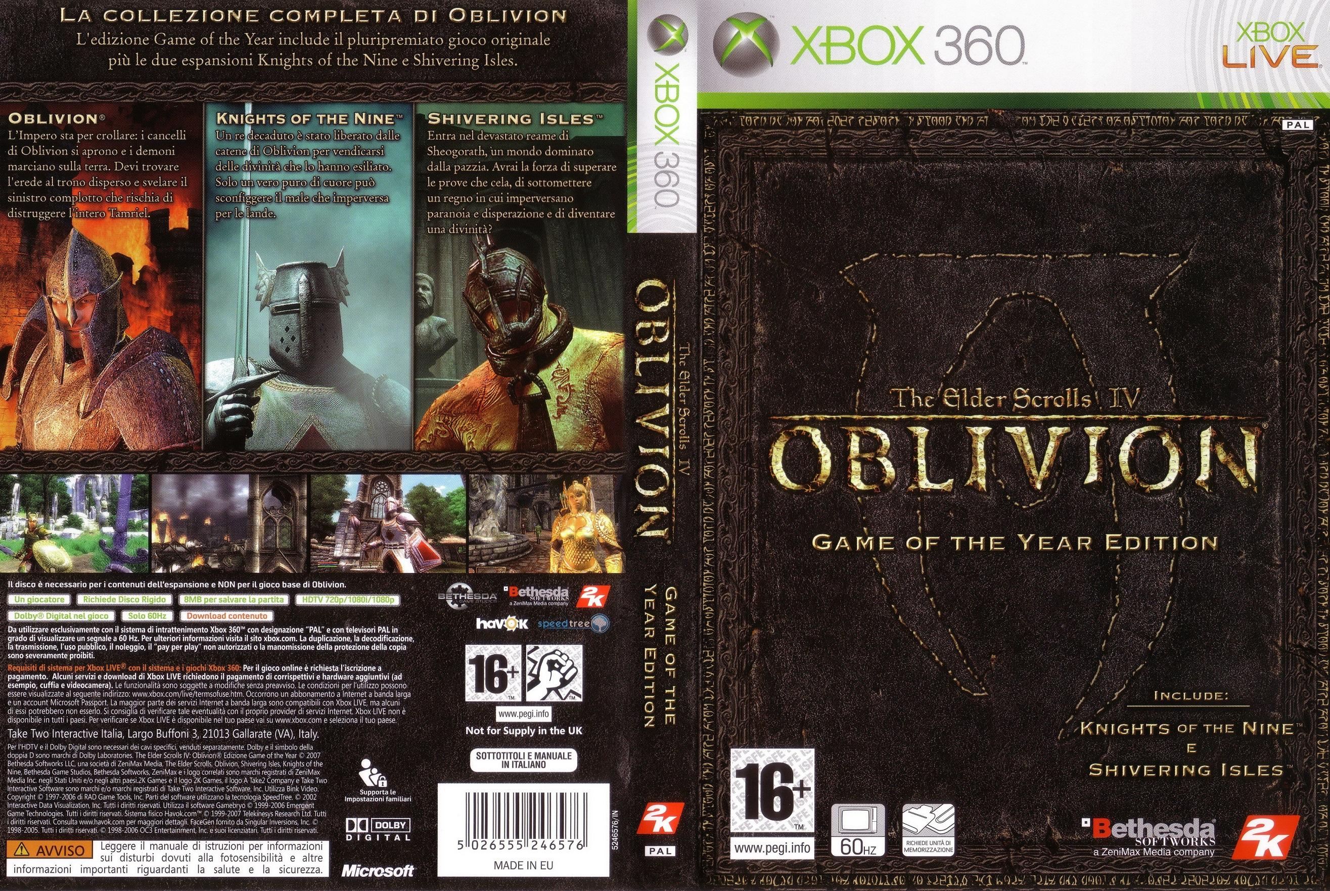 The elder scrolls iv: oblivion (collector's edition) xbox 360.